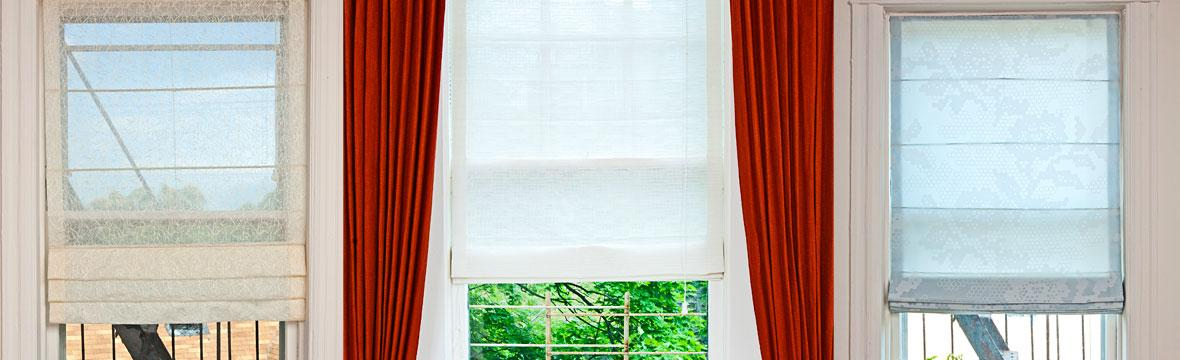 custom made roman shades